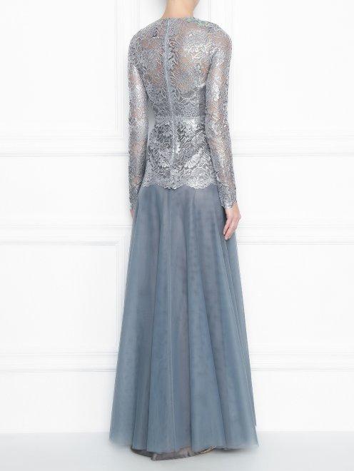 Платье-макси из кружева с декоративной аппликацией - МодельВерхНиз1