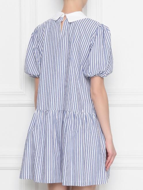 Платье из хлопка, с узором полоска  - МодельВерхНиз1