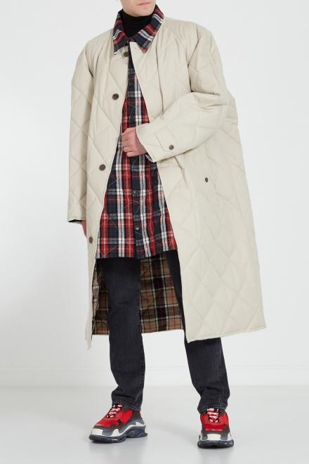 Стеганое пальто свободного кроя - 528723 Пальто Модель Общий вид1