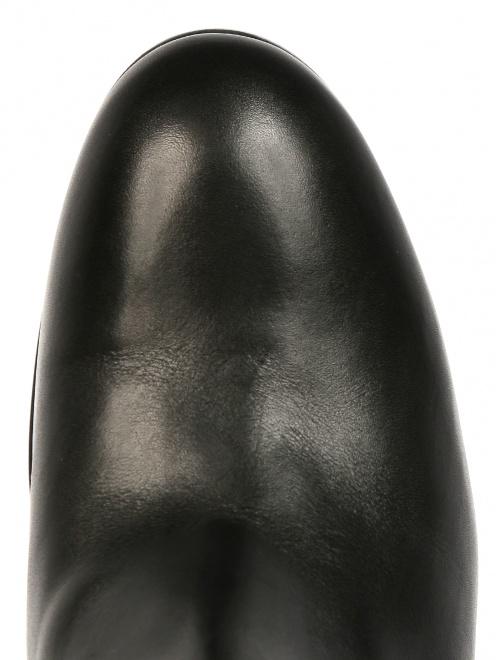 Сапоги из кожи на низком устойчивом каблуке - Обтравка3