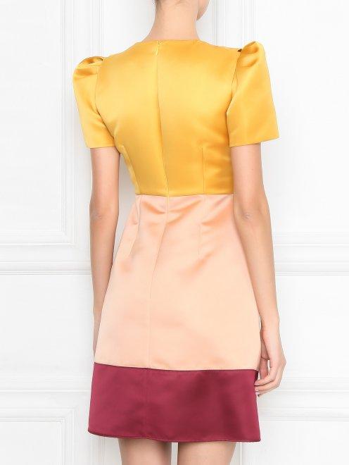 Платье из атласа с отделкой пайетками - МодельВерхНиз1