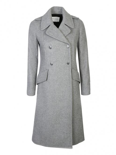 Пальто двубортное, из шерсти - Общий вид