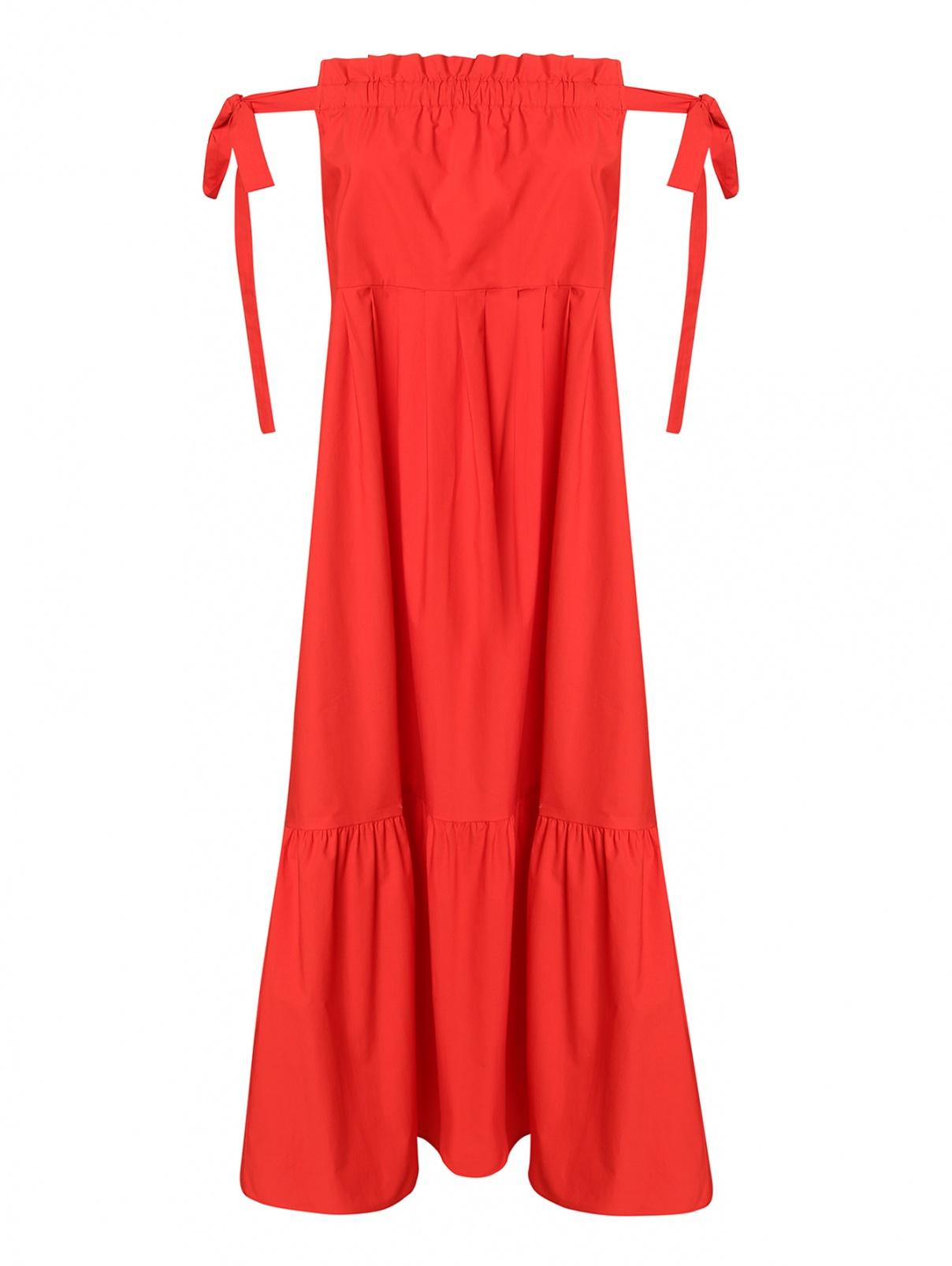 Платье из хлопка с воланом на завязках Weekend Max Mara  –  Общий вид