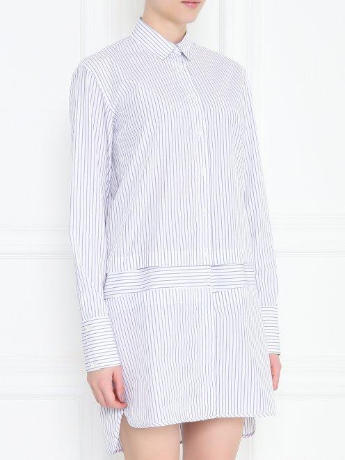 Платье рубашка из хлопка с отстегивающимися деталями - МодельВерхНиз
