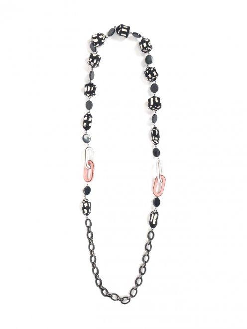 Ожерелье из пластика и текстиля - Общий вид