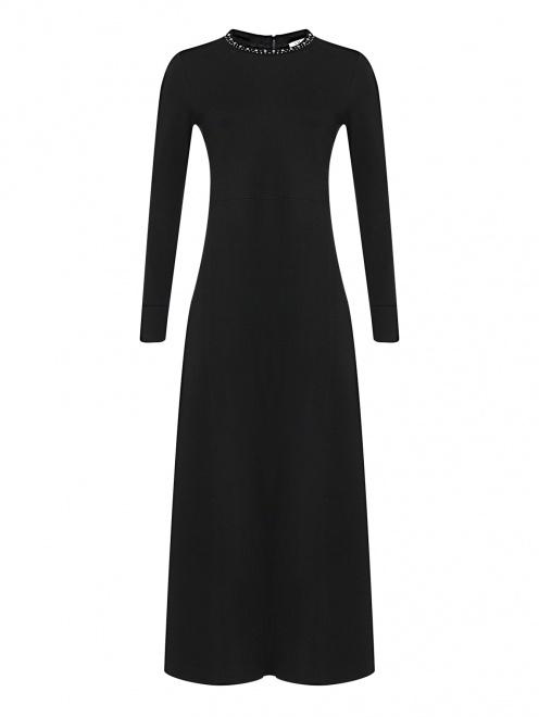 Трикотажное платье-миди  - Общий вид