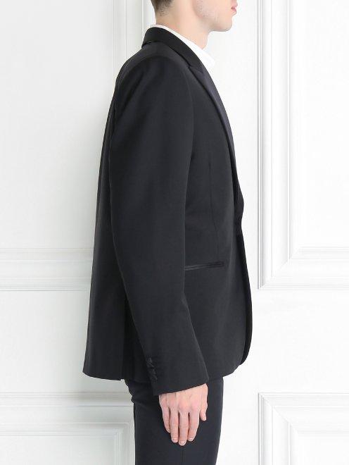Пиджак однобортный из шерсти - Модель Верх-Низ2
