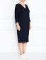 Трикотажное платье  прямого кроя Marina Rinaldi  –  МодельВерхНиз