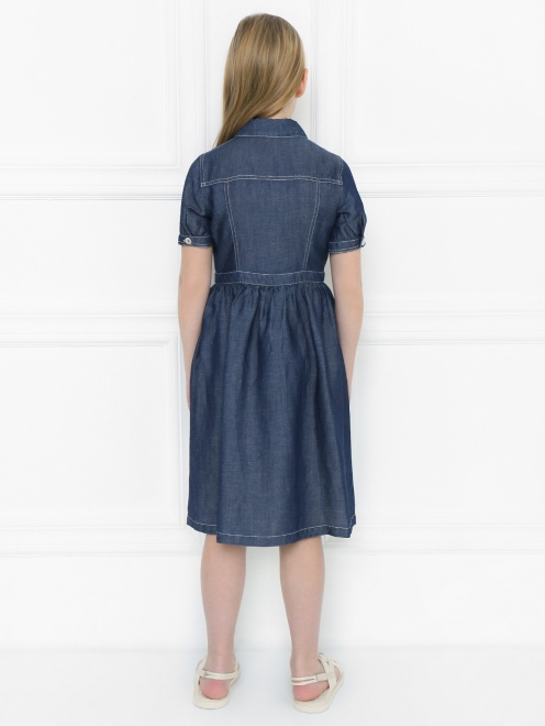 Платье-рубашка из мягкого денима - МодельВерхНиз1