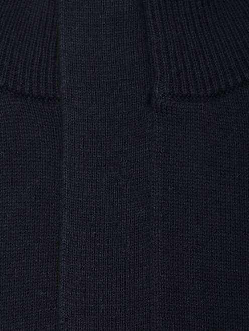 Джемпер из хлопка и шерсти на молнии  - Деталь
