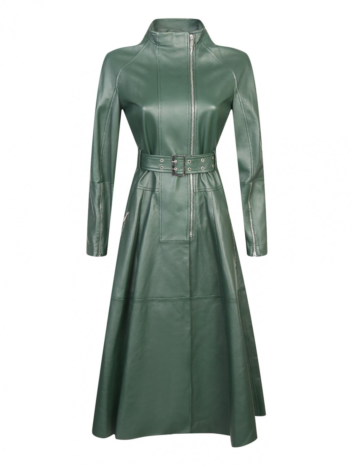 Платье из кожи под пояс Sportmax  –  Общий вид