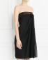 Платье-мини с драпировкой Philosophy di Alberta Ferretti  –  Модель Верх-Низ