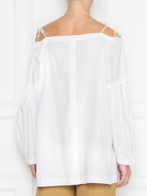 Блуза из хлопка с открытыми плечами - МодельВерхНиз1