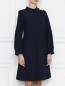 Платье прямого силуэта с металлическими пуговицами Tara Jarmon  –  МодельВерхНиз