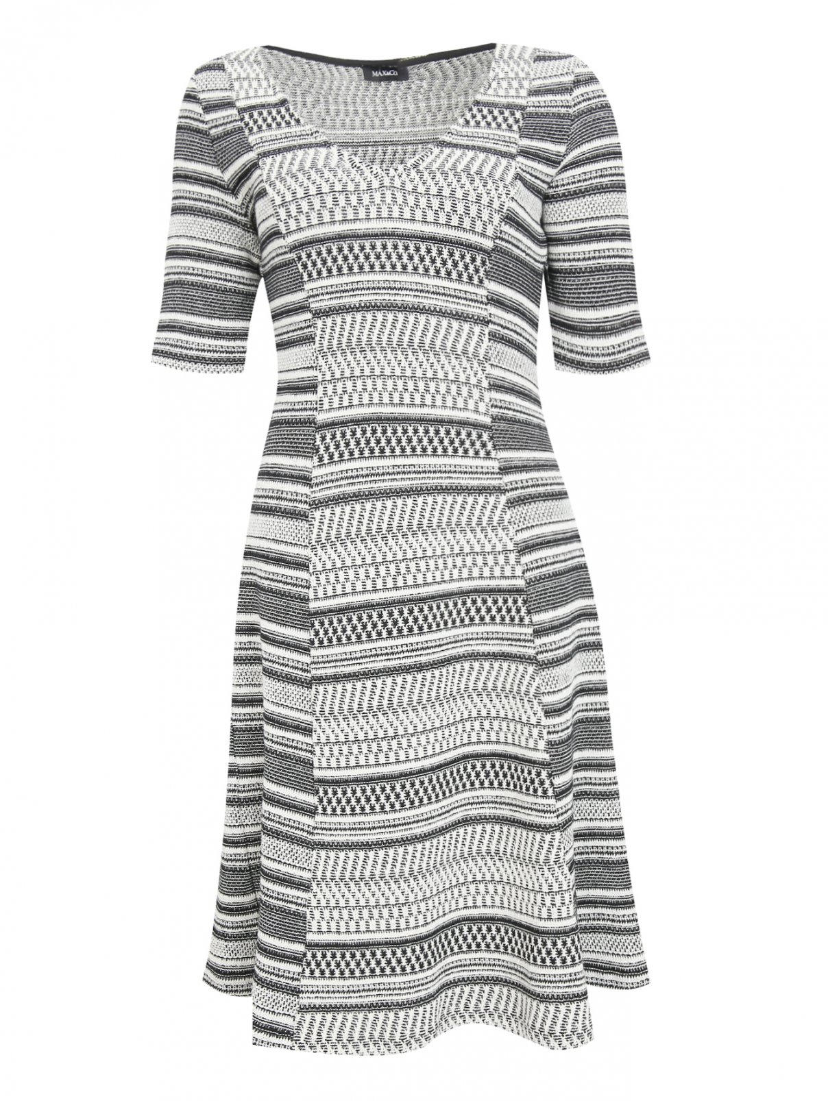 Платье-миди из хлопка с узором Max&Co  –  Общий вид  – Цвет:  Узор
