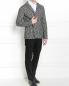 Пиджак из шерсти и хлопка  узором Emporio Armani  –  Модель Общий вид