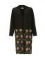Легкое пальто из шелка с цветочным узором Alberto Biani  –  Общий вид