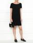 Платье свободного кроя с короткими рукавами Moschino Cheap&Chic  –  МодельОбщийВид