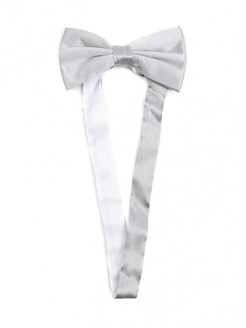 Набор из пояса и галстука-бабочки из шелка  - Обтравка1