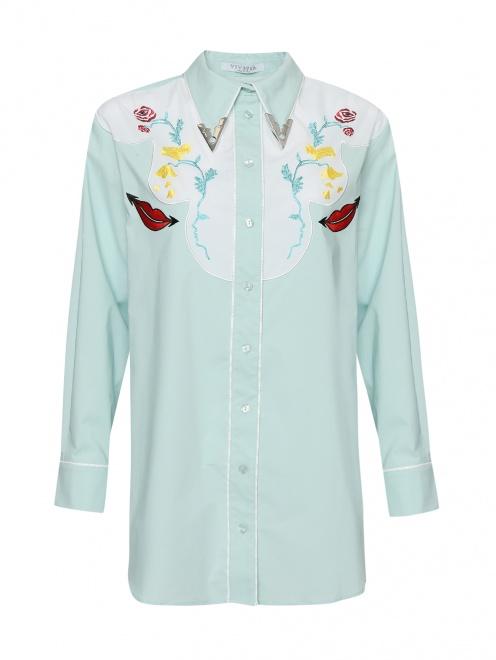 Блуза из хлопка с вышивкой - Общий вид