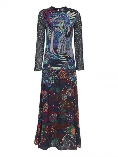 Платье-макси, с узором из вискозы - Общий вид