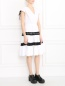 Платье из хлопка с контрастной отделкой Jean Paul Gaultier  –  Модель Общий вид