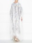 Платье свободного кроя из шелка с аппликацией Daniela de Souza  –  МодельВерхНиз1