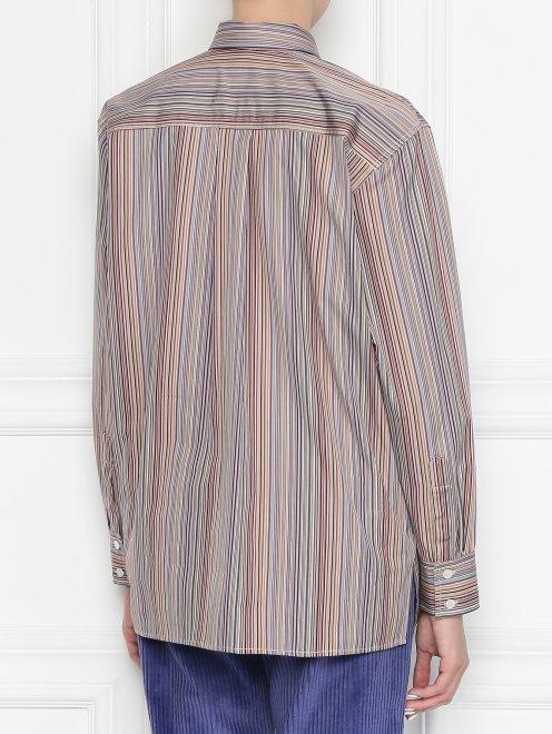 Блуза из хлопка в полоску - МодельВерхНиз1