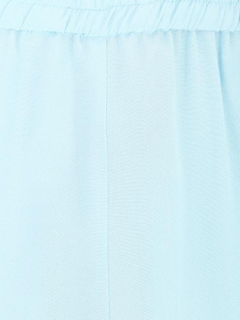 Брюки из шелка свободного кроя на резинке - Общий вид