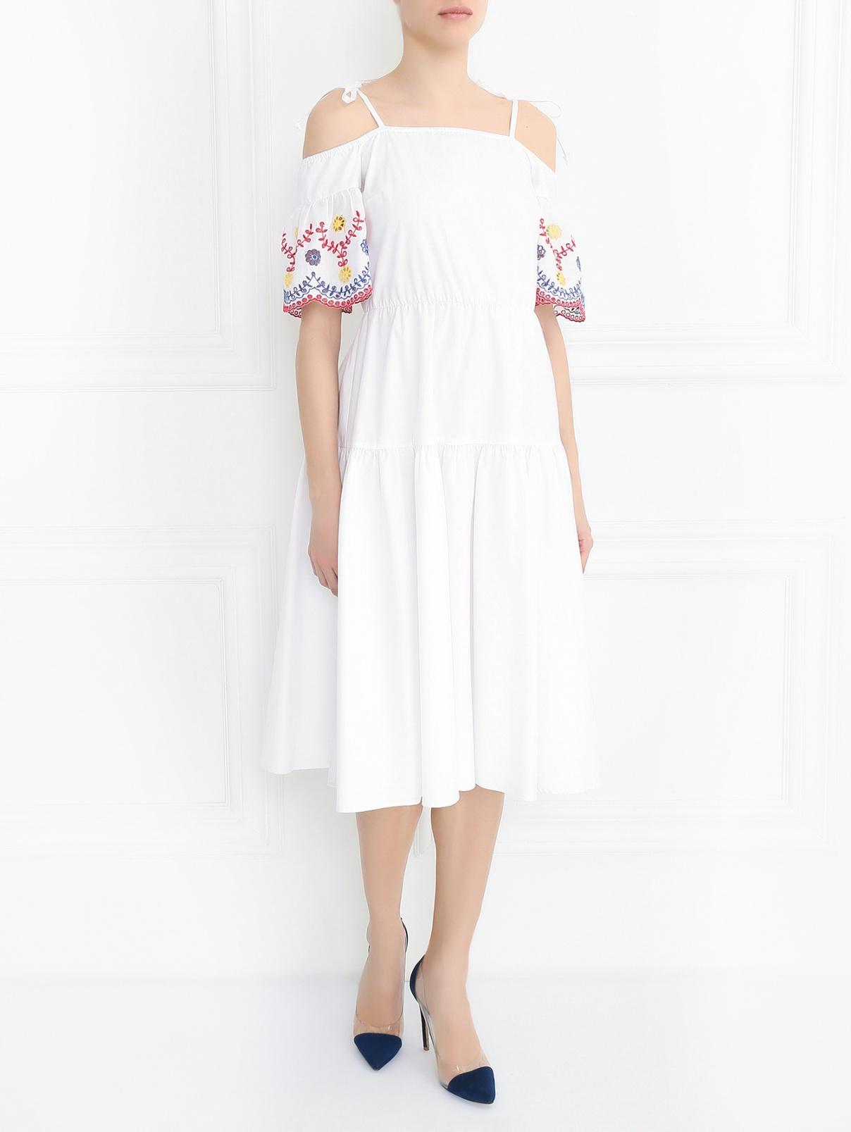 Платье из хлопка с коротким рукавом I'M Isola Marras  –  Модель Общий вид