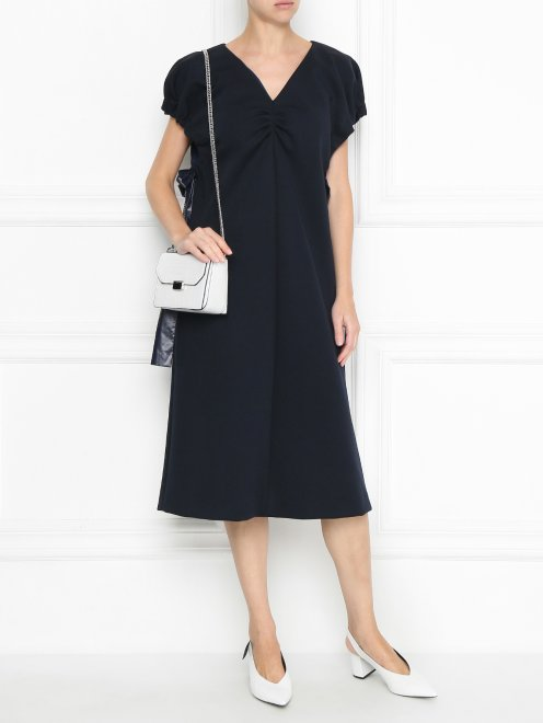 Платье трикотажное с драпировкой - Общий вид