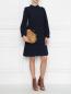 Платье прямого силуэта с металлическими пуговицами Tara Jarmon  –  МодельОбщийВид