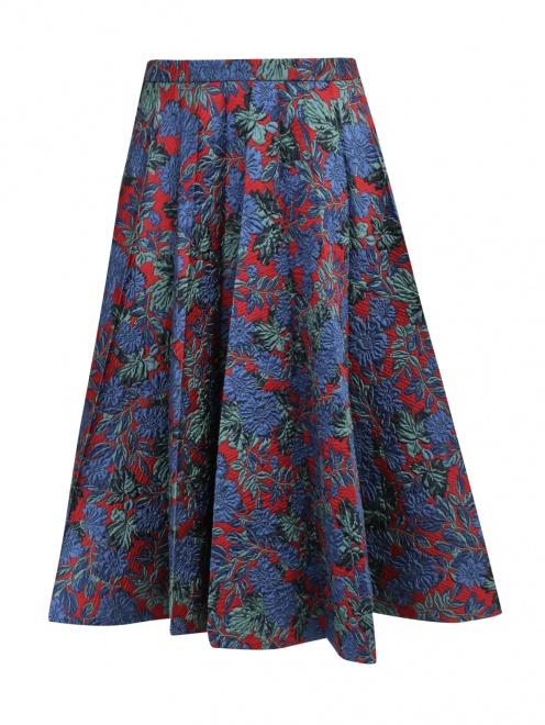 Юбка с фактурным цветочным узором - Общий вид