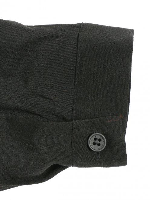 Блуза из шелка с бантом - Деталь1