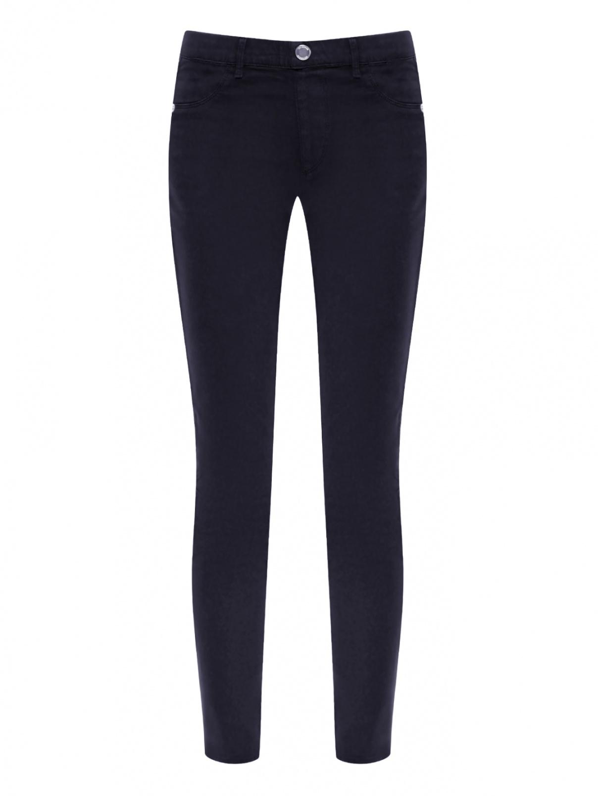 Однотонные брюки из хлопка Love Moschino  –  Общий вид  – Цвет:  Черный
