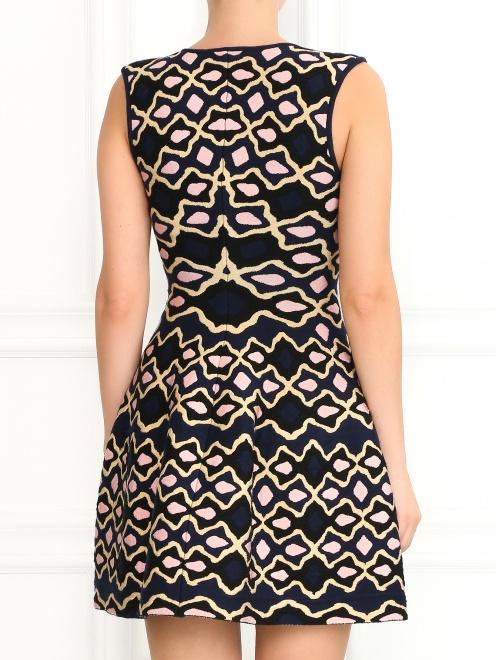 Трикотажное платье-мини с узором - Модель Верх-Низ1