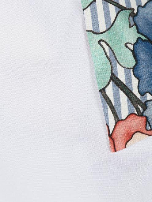 Рубашка из хлопка с коротким рукавом и контрастной отделкой - Деталь1