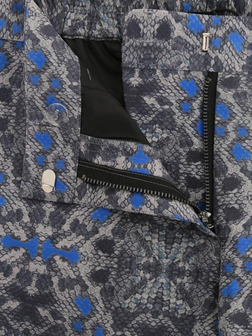 Укороченные брюки из полиэстера с узором - Деталь