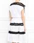 Платье из хлопка с контрастной отделкой Jean Paul Gaultier  –  Модель Верх-Низ1