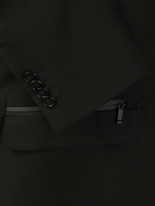 Пиджак однобортный из тонкой шерсти - Деталь
