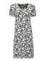 Платье свободного кроя с узором Max Mara  –  Общий вид