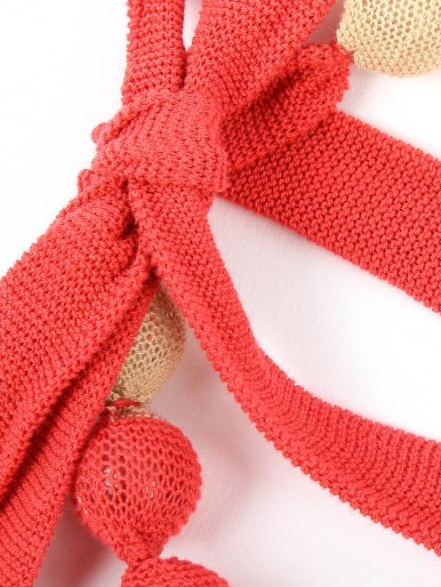 Ожерелье из бусин обтянутых трикотажем - Деталь1
