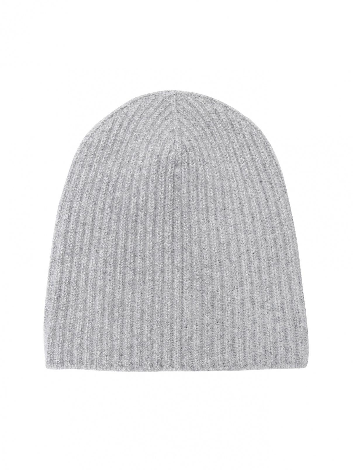 Трикотажная шапка из кашемира Begg x Co  –  Общий вид  – Цвет:  Серый
