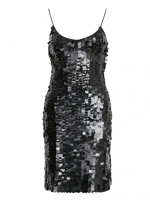 Платье-мини расшитое пайетками  - Общий вид