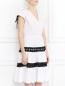 Платье из хлопка с контрастной отделкой Jean Paul Gaultier  –  Модель Верх-Низ