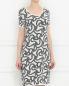 Платье свободного кроя с узором Max Mara  –  Модель Верх-Низ