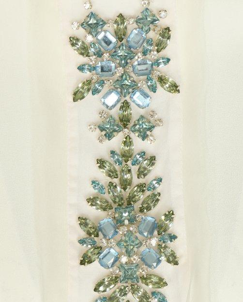 Блуза свободного кроя декорированная кристаллами - Общий вид