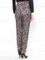 Шелковые брюки с узором Jean Paul Gaultier  –  Модель Верх-Низ1
