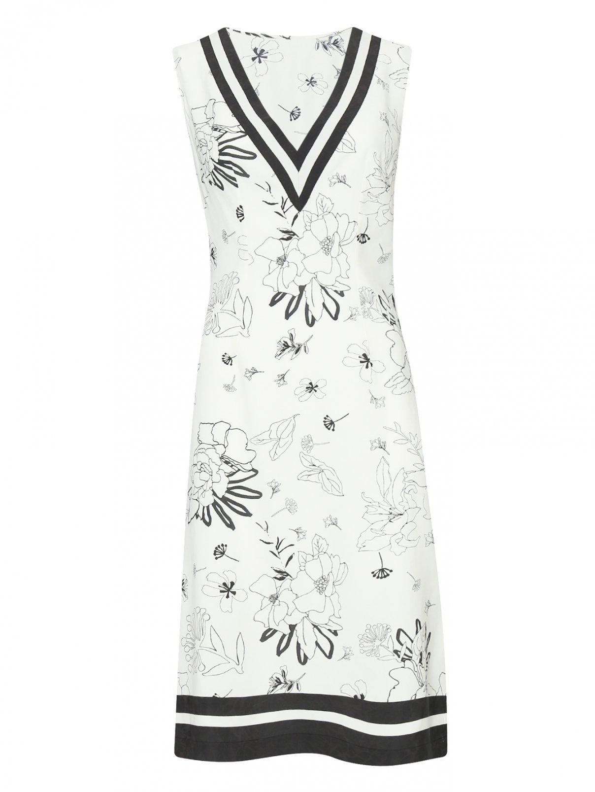 Платье-миди с цветочным узором Ermanno Scervino  –  Общий вид