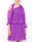 Платье из шелка с открытыми плечами Alberta Ferretti  –  Модель Верх-Низ